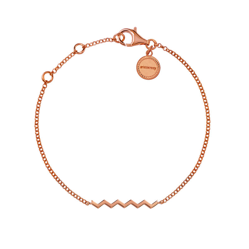 Pulsera zigzag oro rosa, J03039-03, hi-res