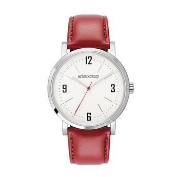 Montre Brooklyn bracelet rouge, W45A-STSTGR-LERD, hi-res