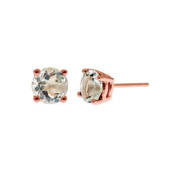 Pendientes grande garra cuarzo plata recubierta oro rosa, J01774-03-GQ, hi-res