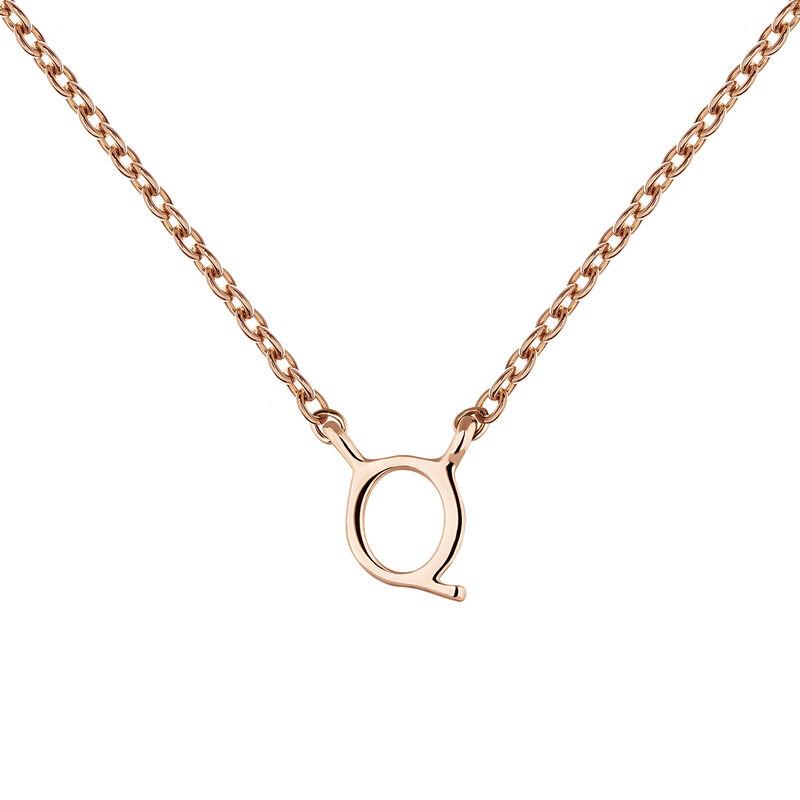 Rose gold Initial Q necklace, J04382-03-Q, hi-res