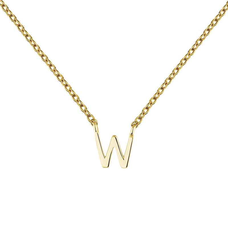 Collar inicial W oro9 kt, J04382-02-W, hi-res