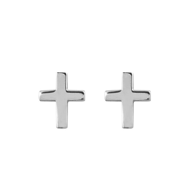 Pendientes cruz plata, J00865-01, hi-res