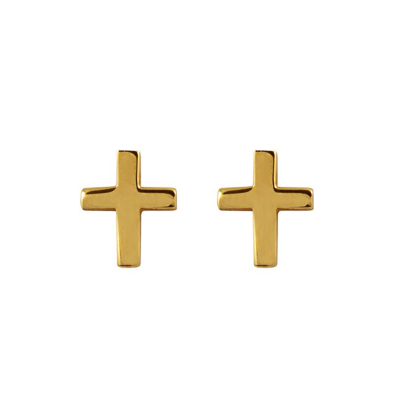 Pendientes cruz oro , J00865-02, hi-res