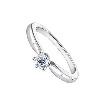 Anillo solitario diamante 0,30 ct oro blanco., J00788-01-30, hi-res