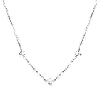 Silver necklace with skulls, J03943-01, hi-res