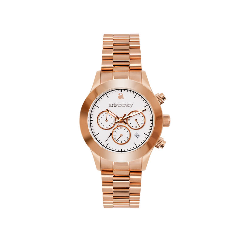 Soho watch rose gold bracelet white face, W29A-PKPKWH-AXPK, hi-res
