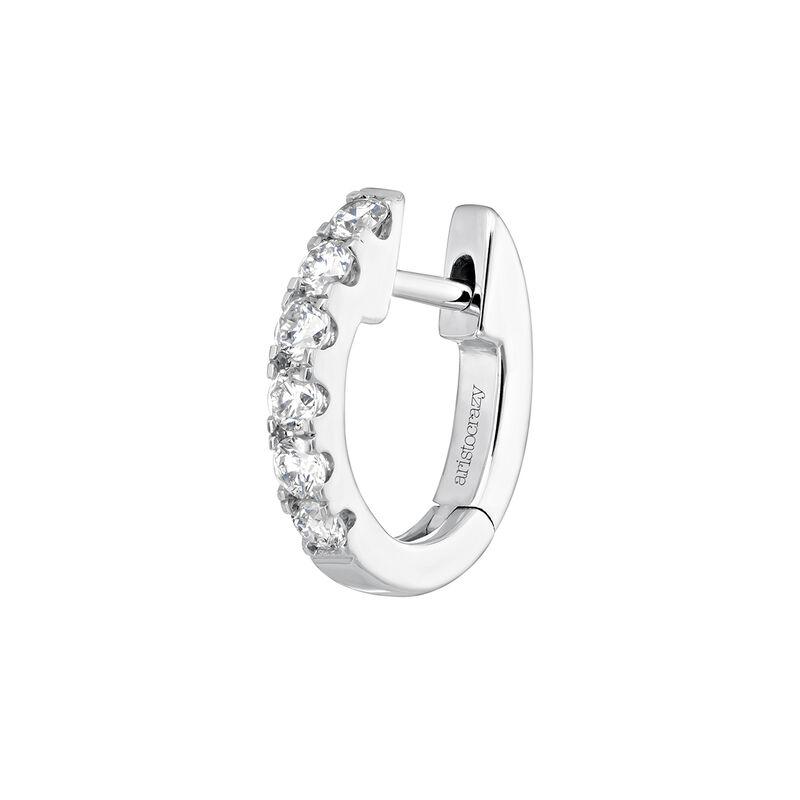 Pendiente aro orla diamantes oro blanco 0,155 ct, J04095-01-16-H, hi-res