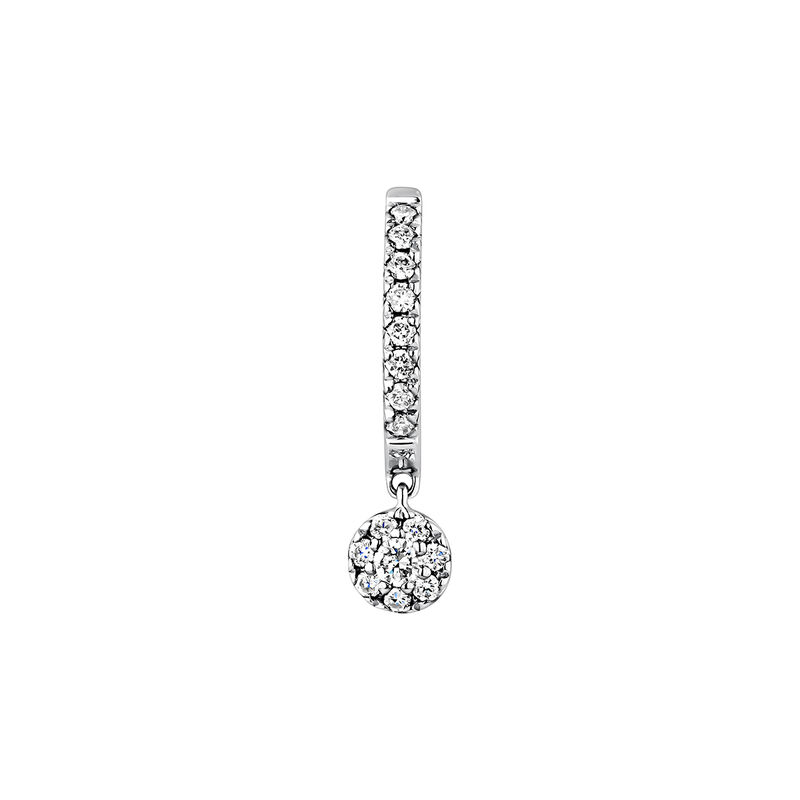 White gold 0.12 ct diamond hoop earring, J04178-01-12-H, hi-res