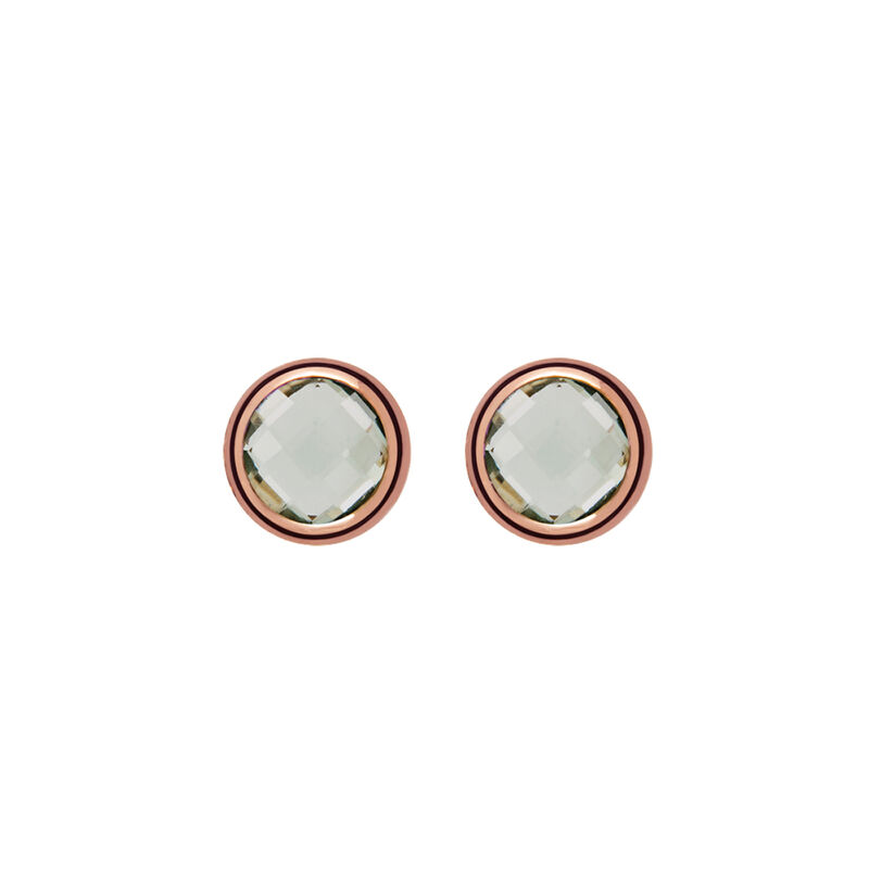 Rose gold plated chaton quartz earrings, J00962-03-GQ, hi-res