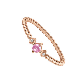 Rose-Gold Vintage Small Ring, J03799-03-PS, hi-res