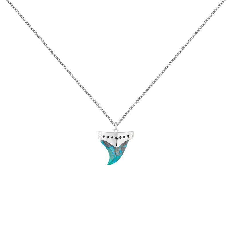 Collier canine chrysocolle verte argent, J04392-01-CH, hi-res