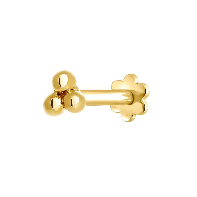 Pendiente piercing tres esferas oro, J03833-02-H, hi-res