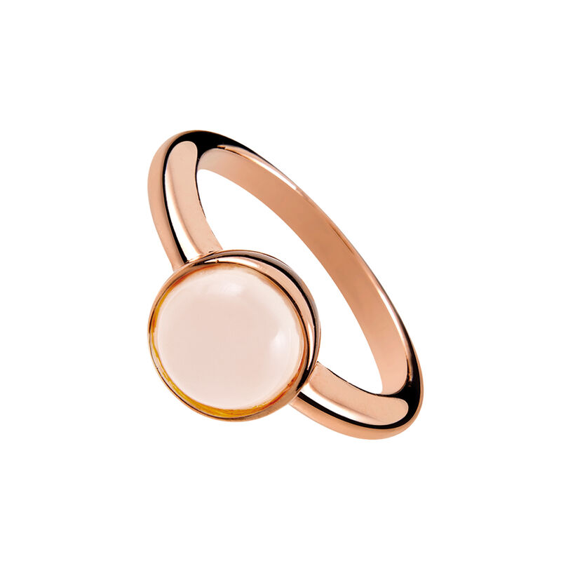 Rose gold plated moonstone Ring, J01972-03-WMS, hi-res