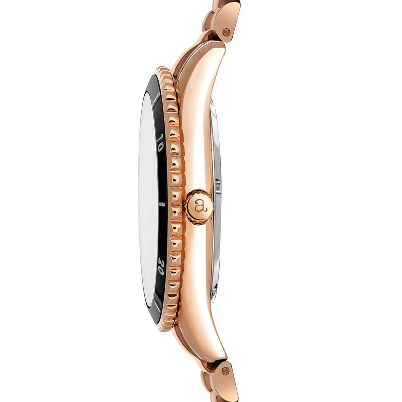 Shibuya watch bracelet black face, W43A-PKBLBL-AXPK, hi-res