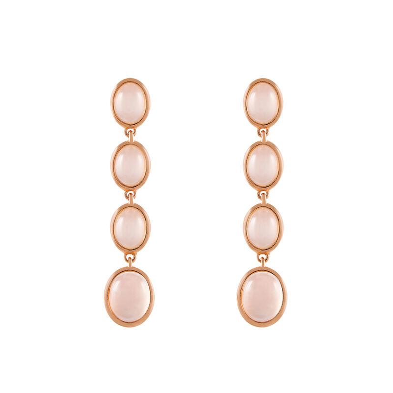 Long rose gold plated moonstone earrings, J01979-03-WMS, hi-res