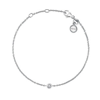 Silver chaton bracelet, J03437-01, hi-res