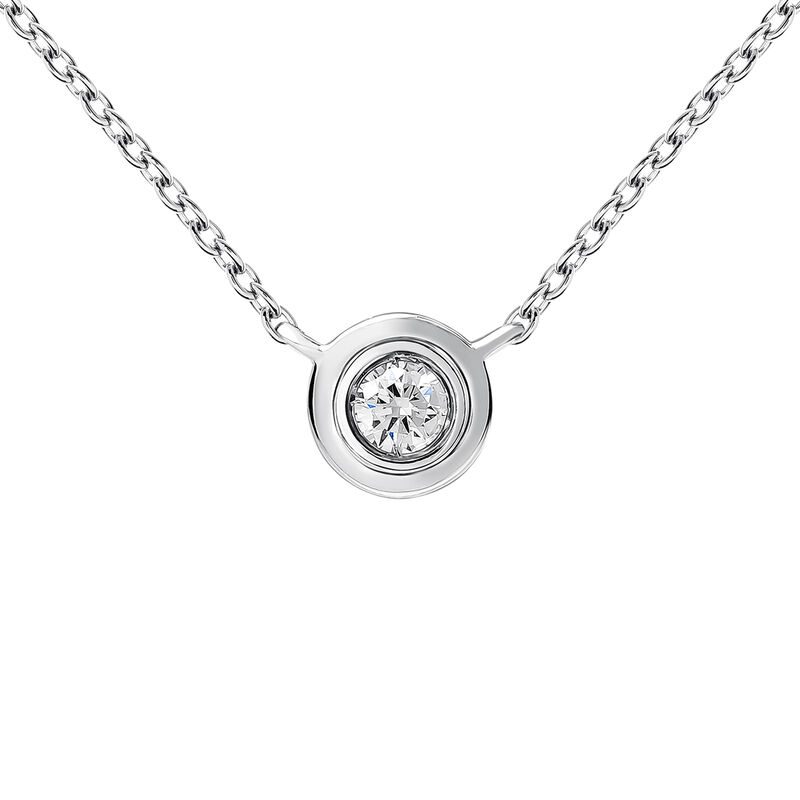 White gold double chaton necklace 0.03 ct., J03407-01-03-GVS, hi-res