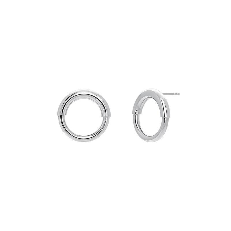 Pendientes de aro pequeño plata, J03651-01, hi-res