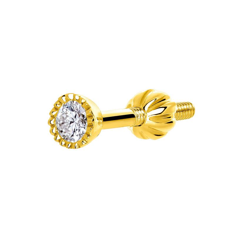 Pendiente piercing mini diamante oro 0,068 ct, J03550-02-H, hi-res