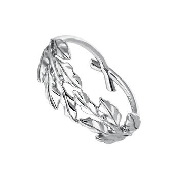 Silver laurel ring, J03453-01, hi-res