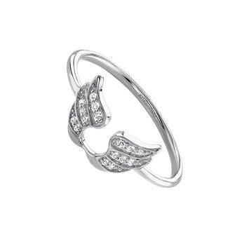 Anillo alas de la suerte plata, J03829-01-WT, hi-res