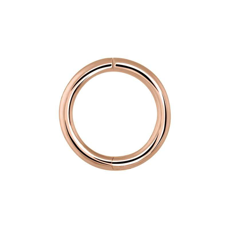 Medium simple rose gold hoop earring piercing, J03843-03-H, hi-res