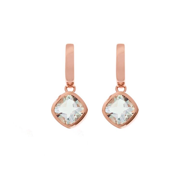 Pendientes de aro piedra oro rosa, J01771-03-GQ, hi-res