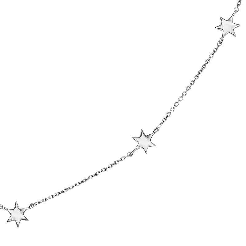 White gold stars necklace, J03867-01, hi-res