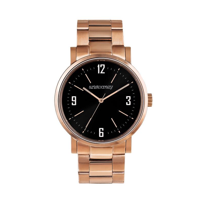 Brooklyn watch pink bracelet black face , 0, hi-res