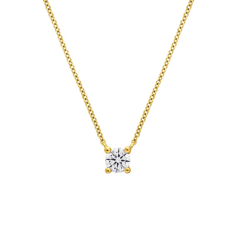 Gold 0.10 ct. diamond necklace, J01957-02-10-GVS, hi-res