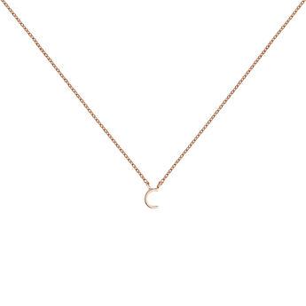 Collar inicial C oro rosa9 kt, J04382-03-C, hi-res