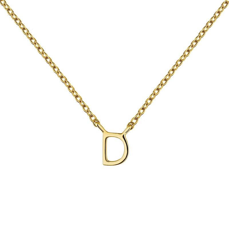 Collier initiale D or, J04382-02-D, hi-res
