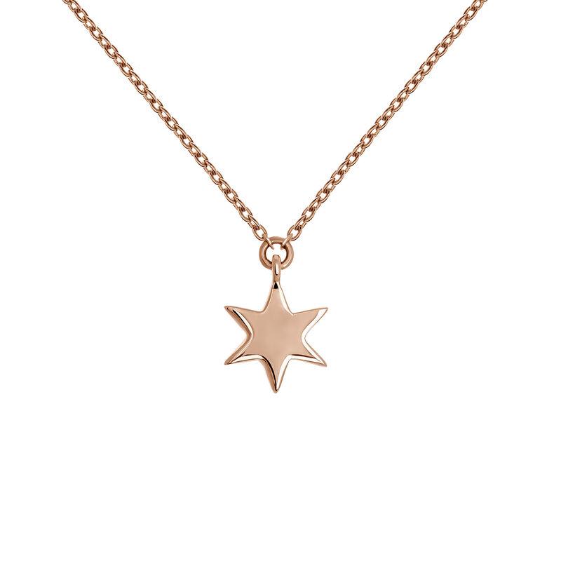 Colgante estrella oro rosa 9 kt, J03863-03, hi-res