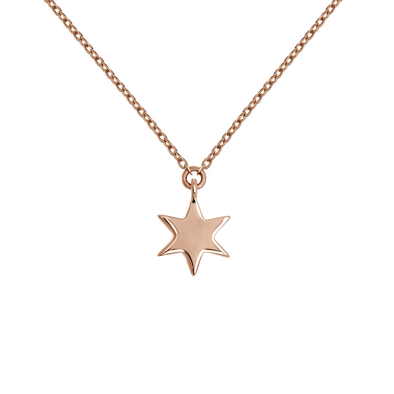 Collier étoile or rose, J03863-03, hi-res
