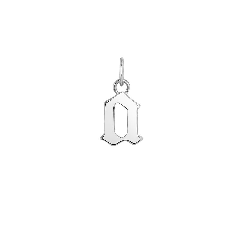 Silver gothic initial A pendant , J04016-01-A, hi-res