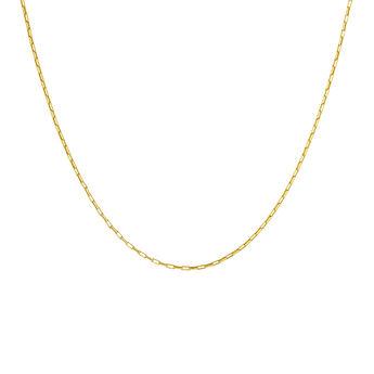 Cadena eslabones cuadrados plata recubierta oro, J04615-02, hi-res