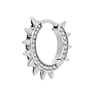 9 kt white gold hoop earring piercing with spikes, J03846-01-H, hi-res