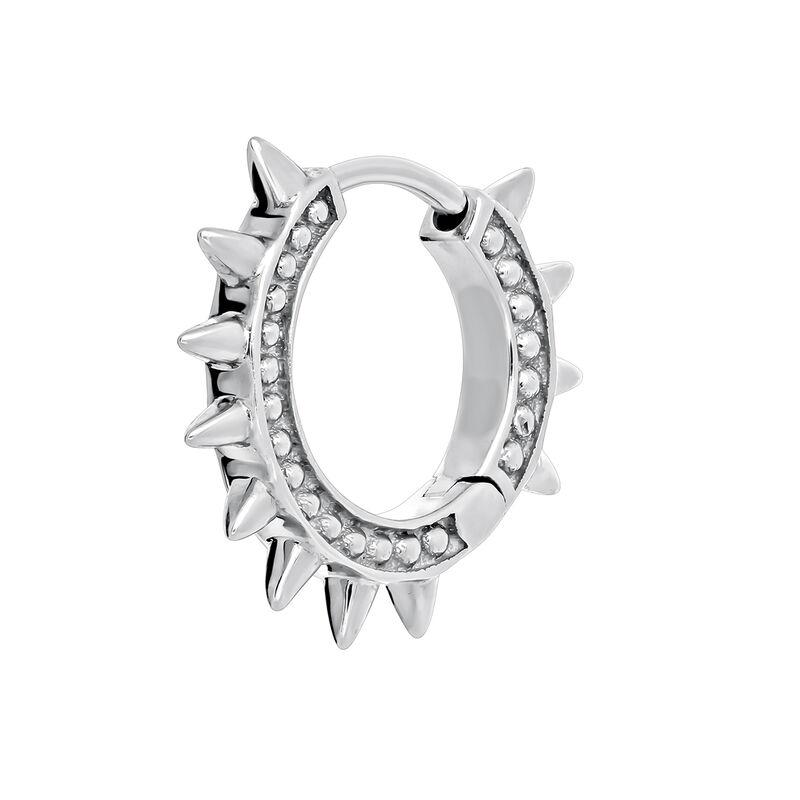 Boucle d'oreille piercing pics or blanc 9kt, J03846-01-H, hi-res