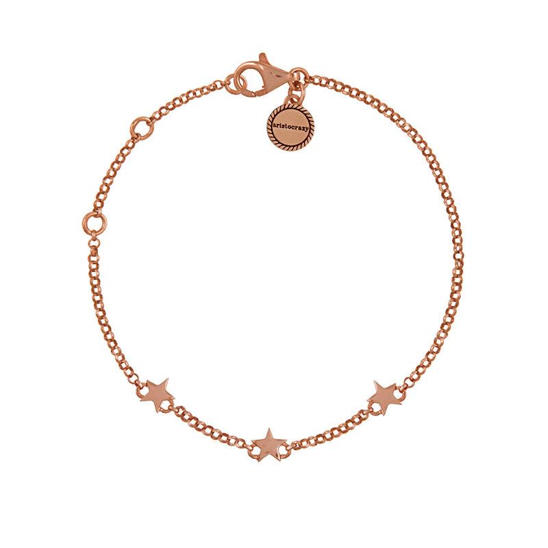 Bracelet mini étoiles argent plaqué or rose, J01898-03, hi-res