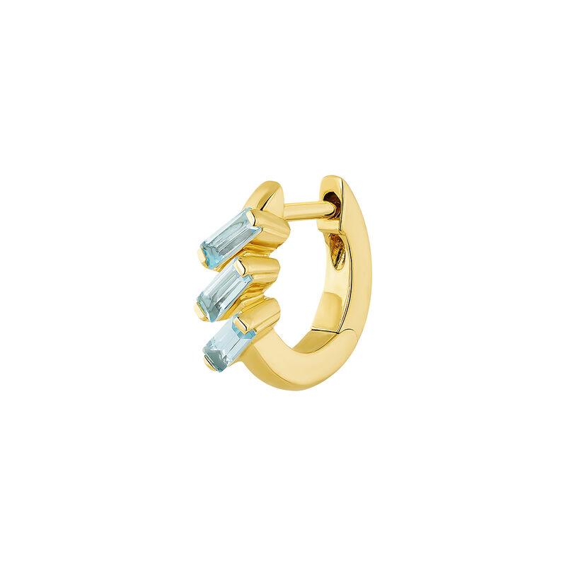 Boucle d'oreille créole topaze argent plaqué or, J04650-02-SKY-H, hi-res