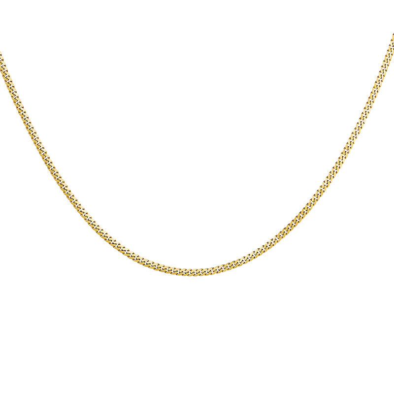 Gold plated combined chain, J04610-02, hi-res