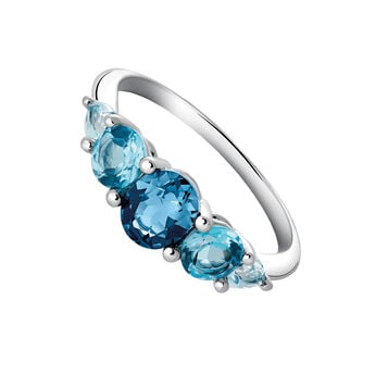 Small silver ring with topaz, J03418-01-LBSBSK, hi-res