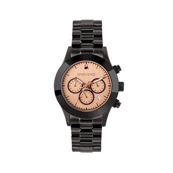 Soho watch black bracelet pink face., W29A-BLBLPK-AXBL, hi-res