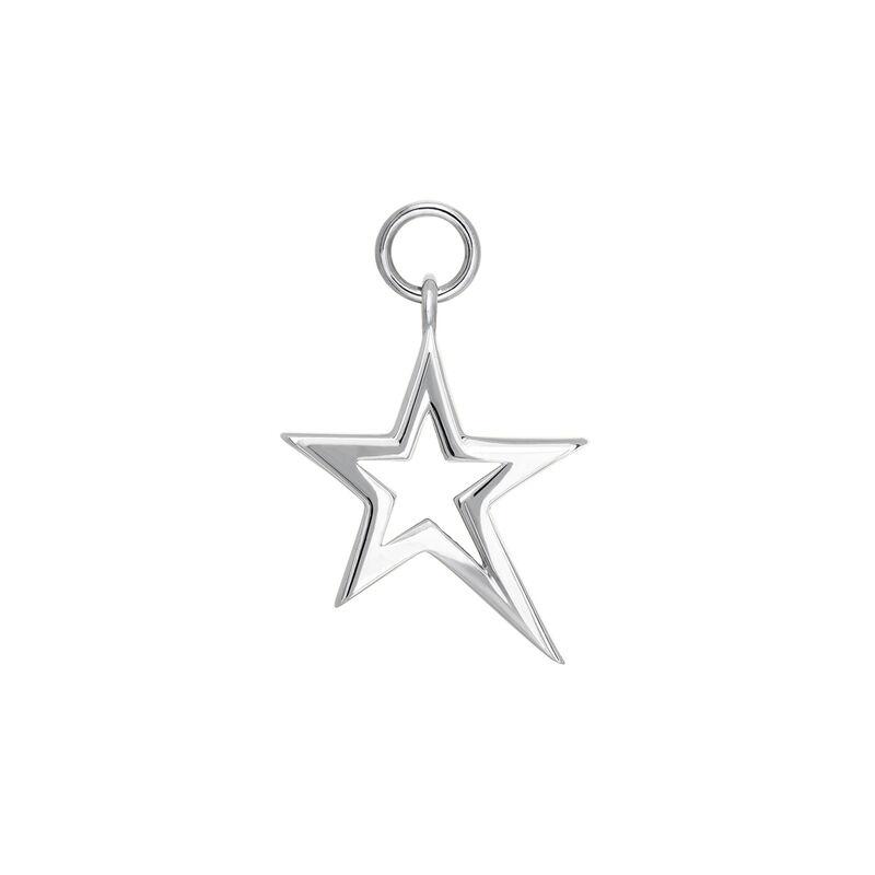 Colgante estrella hueca asimétrica plata, J03975-01, hi-res