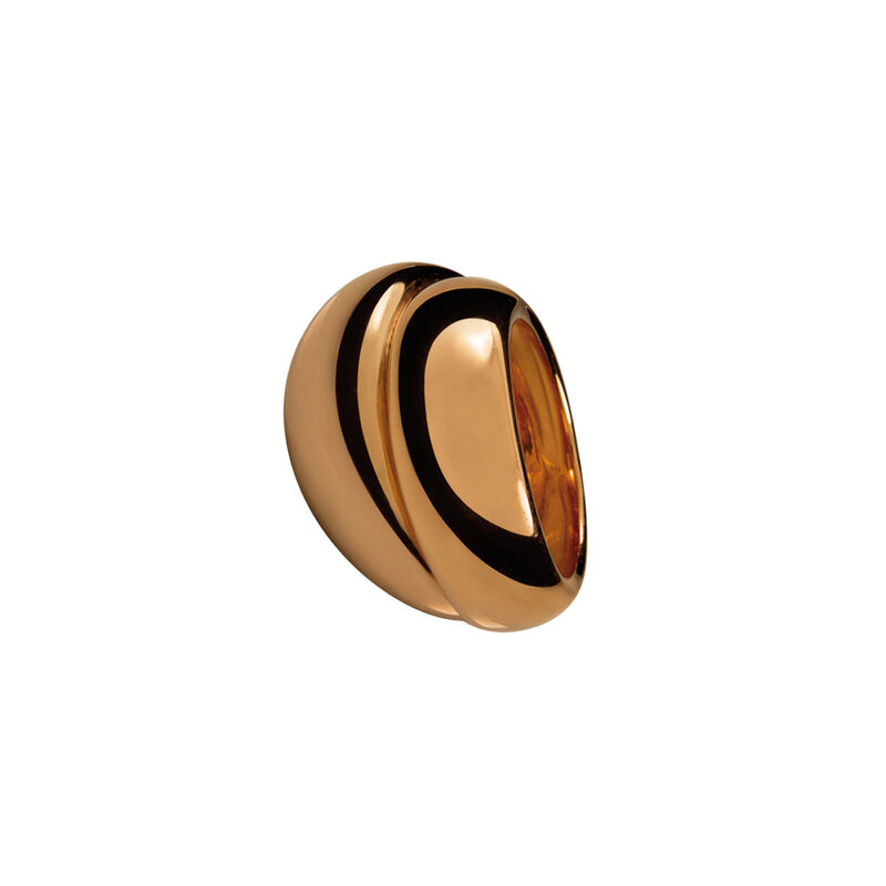 Rose gold silver double bombé ring, J00796-03, hi-res