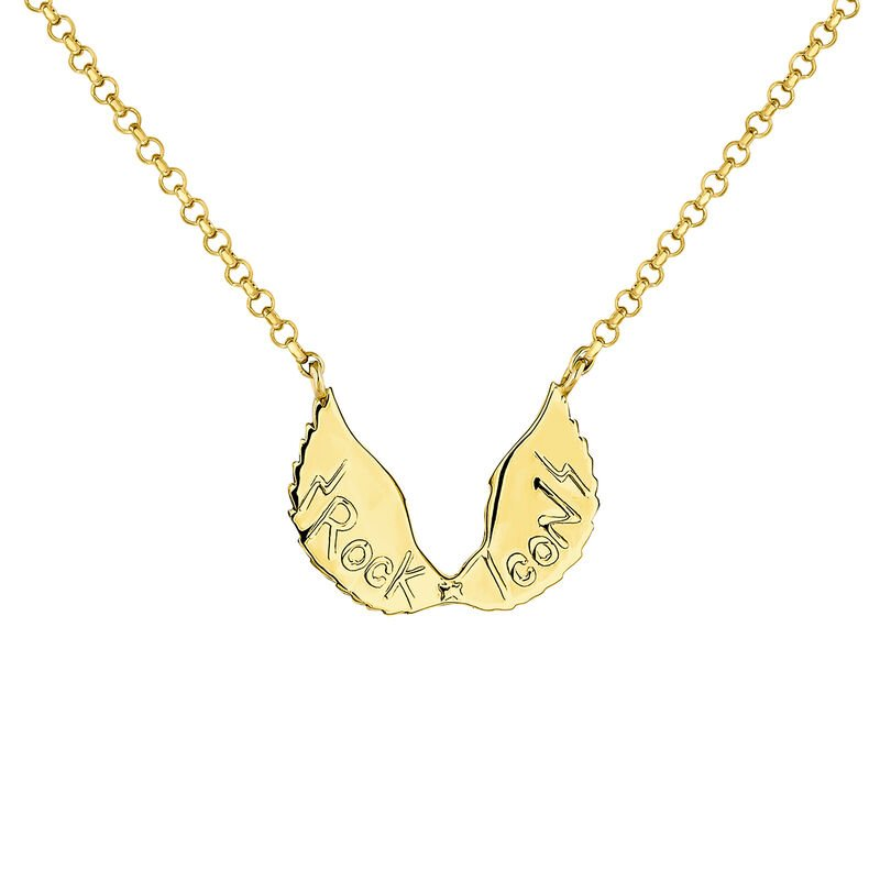 Gold wings necklace, J04304-02, hi-res