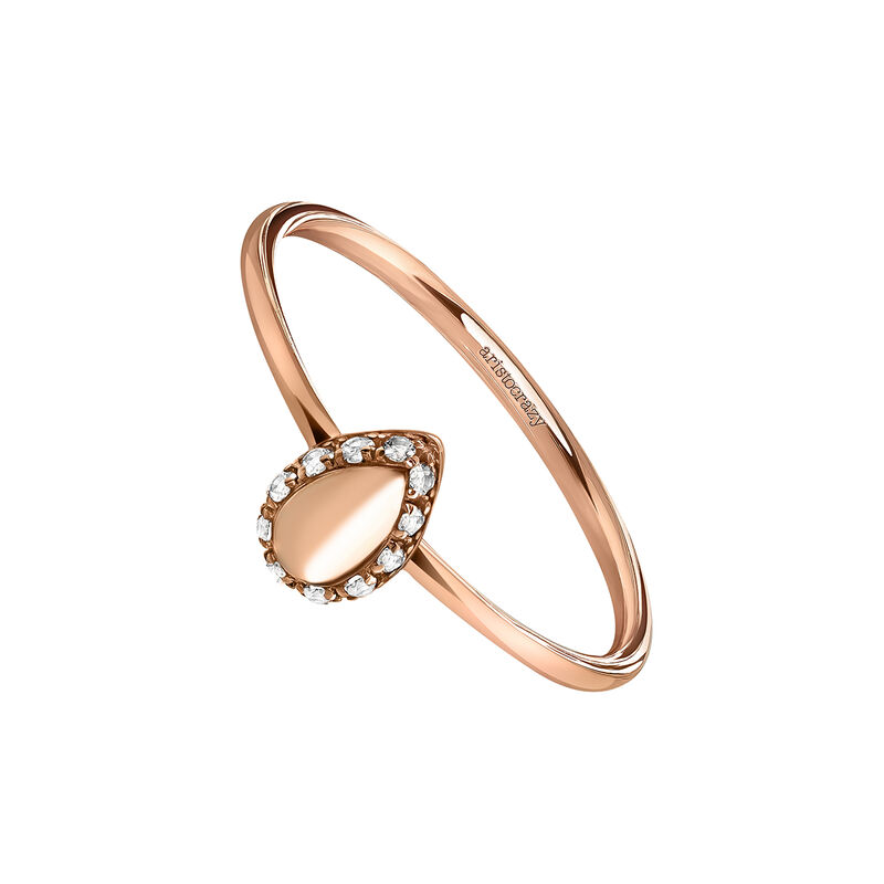 Rose gold almond ring, J03830-03-WT, hi-res