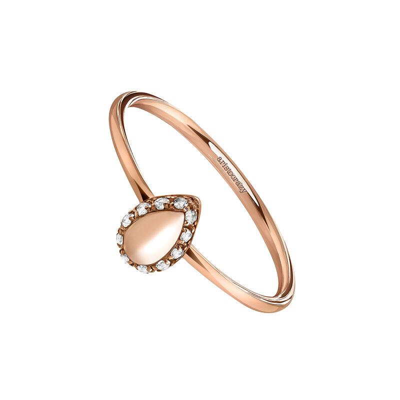 Rose gold almond ring, J03830-03-WT, hi-res