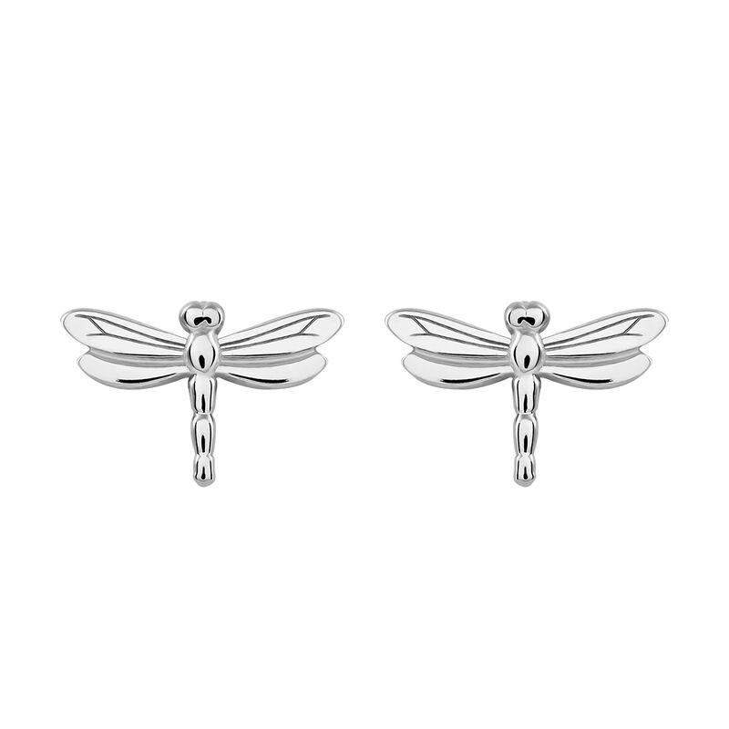Pendientes libélula plata, J03180-01, hi-res