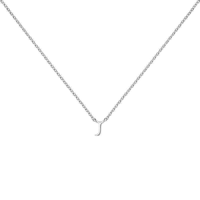 Collar inicial J oro blanco9 kt, J04382-01-J, hi-res